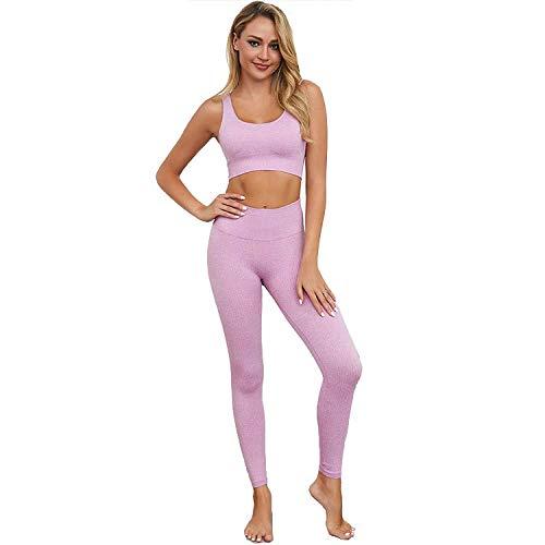 Fit Elements Set sportivo da donna 2 Pezzi Tuta Yoga Set con Top e Leggings per Palestra Yoga e Pilates, CALIFORNIA-LI S