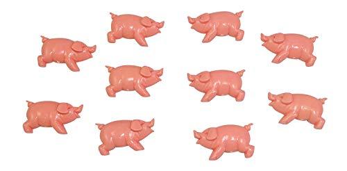 ERRO Lot de 10 cochons Semi-Plastiques en Plastique comme Un Bonheur pour l'anniversaire et Le Nouvel Anniversaire de la Saint-Valentin Porte-Bonheur pour Les passionnés de la Table de Sylvester