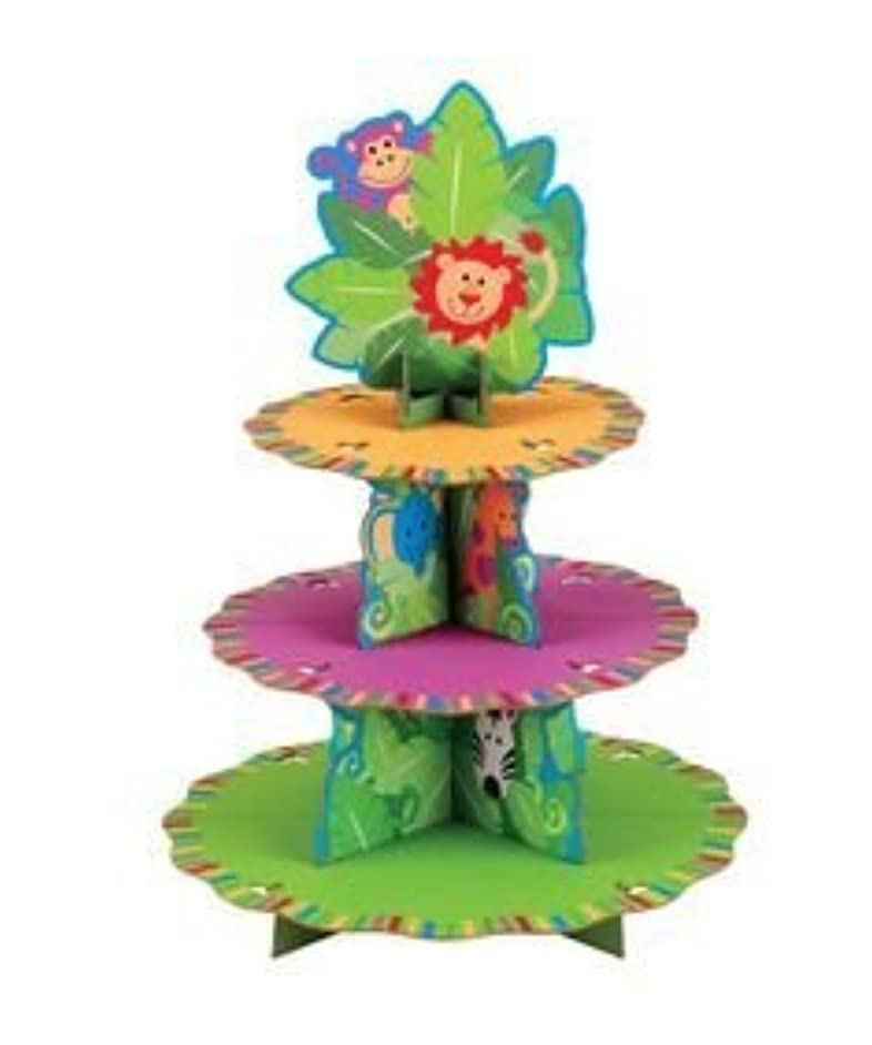Wilton 24 Cupcakes Treat Stand - Jungle Pals