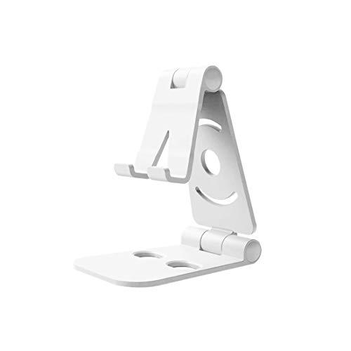 EUROXANTY Soporte para móviles o tablets   Soporte estable   Angulo de hasta 270º   Compatible con 99% modelos   Plegable y de bolsillo   14 x 10 cm   BLANCO