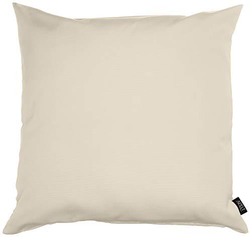 APELT Kissenhülle 4362 Farbe 20, modisch und zeitloser Kissenbezug, hochwertige und schicke Unifarbene Zierkissenhülle in Creme, Größe 49x49 cm