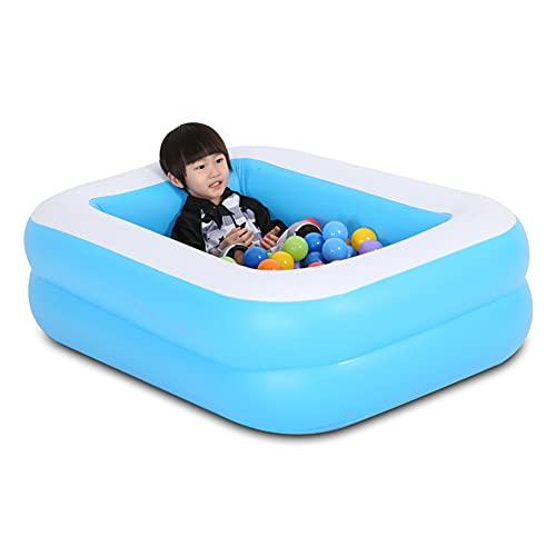 YANXS Piscina Hinchable para Niños Azul Piscina Infantil Rectangular Piscina para Bebés Inflable Plegable Espesar para Actividades Familiares Aire Libre Fiesta Playa Jardín,120cm