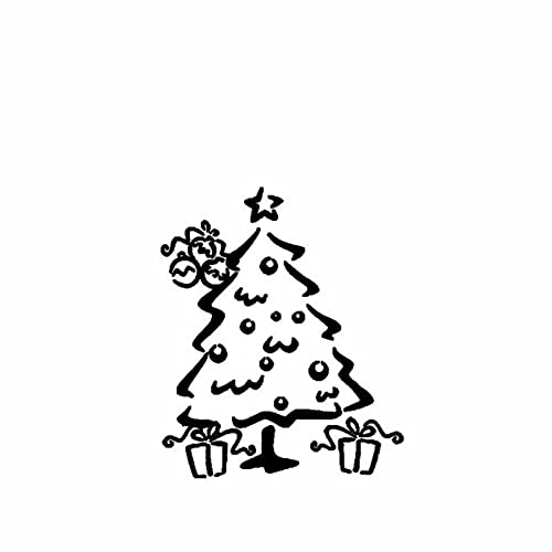GSPOGTY Paquete de Pegatinas de Coche 13,1 CM × 15,7 CM Árbol de Navidad Vinilo Motocicleta Bicicleta Calcomanía Graffiti Parches Pegatinas para portátiles (3 PCS)