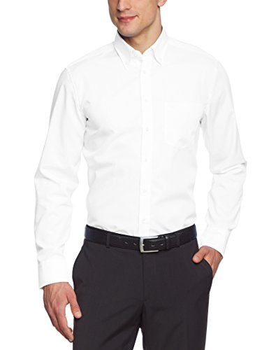 Seidensticker Herren Business Hemd Regular Fit , Weiß (White 0001) , 43