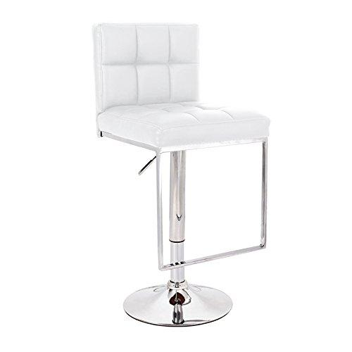 designement Vladimir Chaise de Bar Ecocuir Blanc 43 x 49 x 113 cm