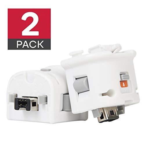 GIRIAITUS Wii Motion Plus Adaptador - Controlador de sensor de conexión Wii Motion Plus (blanco 2 unidad)
