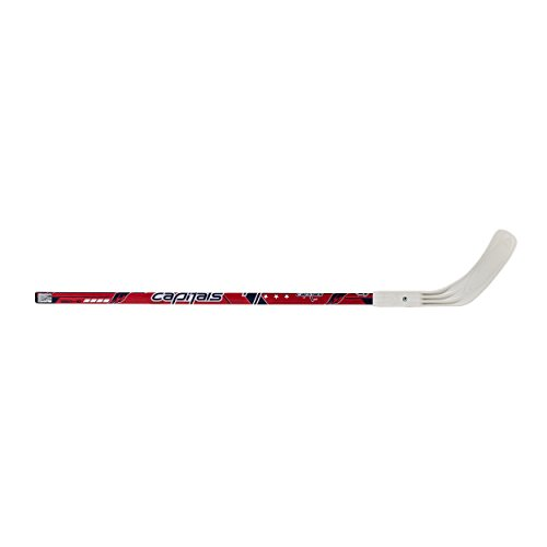 """Franklin Sports Washington Capitals Street Hockey Stick - 40"""" 2-Piece Wood Stick w/Blade - Right Shot - Ball Hockey - NHL Official Licensed Product"""