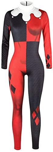 ARR Harley Quinn Disfraz/Payaso Mujer Mono Disfraz de Cosplay Halloween Carnaval Mono de Navidad, Harley Quinn C, XL