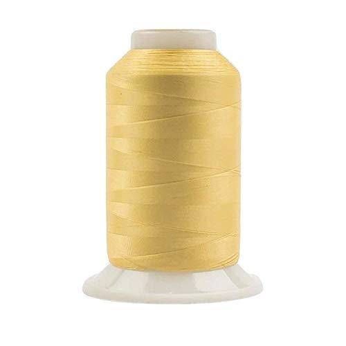 WonderFil, Specialty Garn, InvisaFil, 2-lagig, Baumwolle, weiches Polyester, seidenähnliches Garn für feine Nähte, 100 Wt – Soft Gold, 2500 m