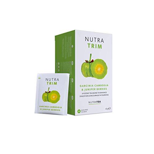 NUTRATRIM - Slim Tea   Skinny Tea   Weight Loss Tea – Aids in Weight Loss and Digestion – Includes Garcinia Cambogia, Guarana & Green Tea - 40 Enveloped Tea Bags - by Nutra Tea - Herbal Tea - (2 Pack)