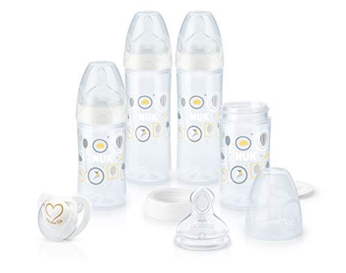 NUK 10225129 Newborn Set, für einen entspannten Start, 4 New Classic PP-Babyflaschen, Silikon-Schnuller, 0-6 Monate