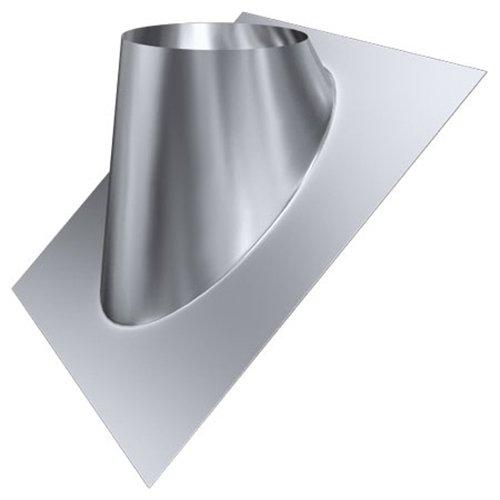 MK sp. Z o.o. Schornstein, Dachdurchführung 35°-50°, Edelstahl, Lochdurchmesser 230 mm (DW 150) Edelstahl glänzend Keine Farbe wählbar