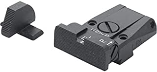 Fusion Firearms/LPA Adjustable, Black Serrated Sight Set for Sig P220, P225, P226, P228, P320