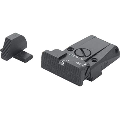 Buy Bargain Fusion Firearms/LPA Adjustable, Black Serrated Sight Set for Sig P220, P225, P226, P228,...