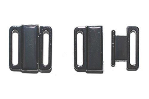 dalipo 14001 - Bikini-Verschluss mit klick, 2 Paar, Metall, 12mm