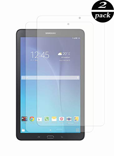 TECHKUN[2 Stück Panzerglas Schutzfolie Kompatibel mit für Samsung Galaxy Tab E 9.6,Panzerglas schutzfolie für Samsung Tab E 9.6 (T560/T561)