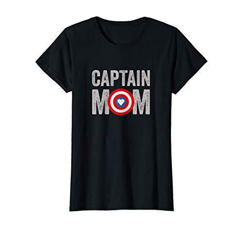 Mujer Mujer Super Capitán Mamá Superhéroe - Captain Mom Camiseta