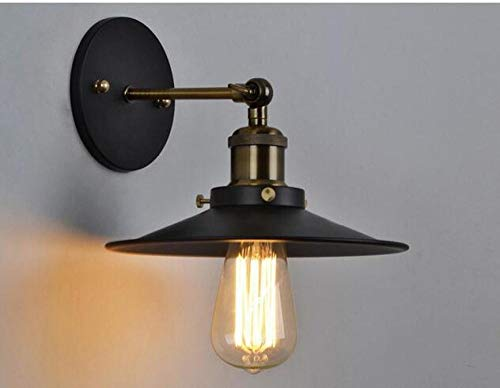 Wandlamp industriële stijl persoonlijkheid creatieve retro wandlamp zwart paraplu hoofd wandlamp -20 * 15 cm