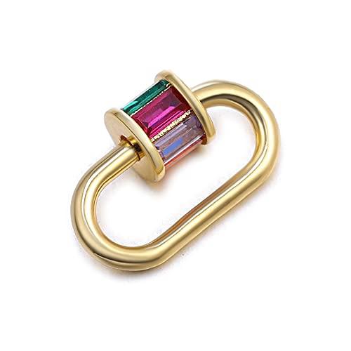 WEIYUE 1 pieza de joyería para hacer botones de circonita de cobre que se pueden hacer en el collar y pulsera para mujer, accesorios hechos a mano (color: azul marino)