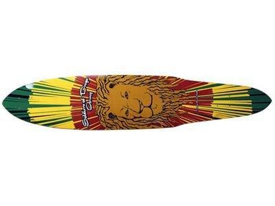 Dregs Rasta Lion Longboard Pintail Deck 9 X 44 inch
