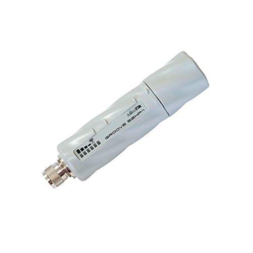 MikroTik RouterBOARD GrooveA 52HPn - Puerto Ethernet impermeable (1 puerto Ethernet de 10 a 100Mbit/s, funciona a través de Ethernet, radio inalámbrica integrada, salida de 1000mW)