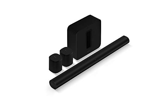 Sonos Arc - The Premium Smart soundbar for TV, Movies, Music, Gaming, and More - Black with (Gen 3) - The Wireless subwoofer for deep bass - Black and SL - Microphone-Free Smart Speaker – Black x2