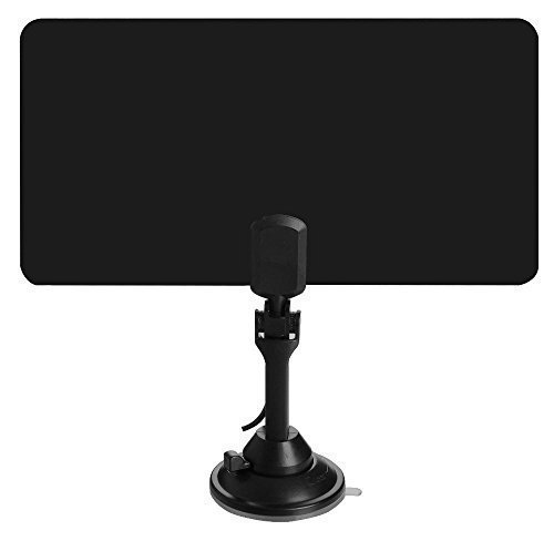 Ultra-Thin Amplified Indoor HDTV Antenna - UHF/VHF/FM