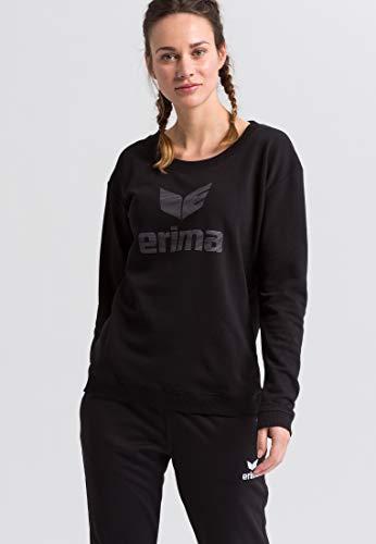 Erima Damen Essential Sweatshirt, schwarz/Grau, 34