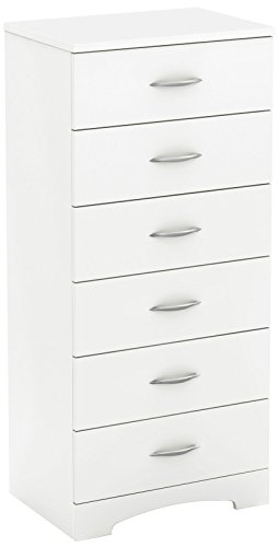 South Shore Step One 6-Drawer Lingerie Chest-Pure White