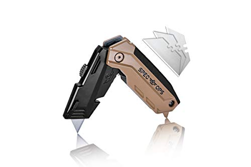 Spec Ops Tools Folding Utility Knife with Retractable Blade,...