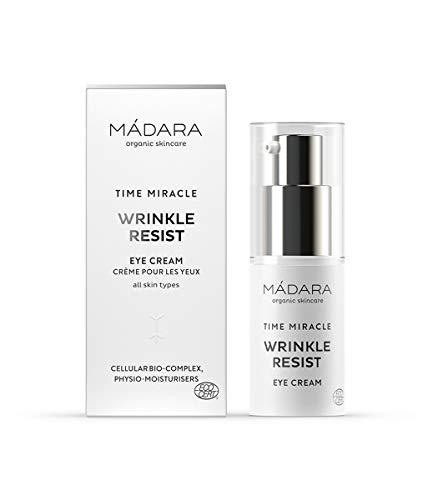MÁDARA Organic Skincare | TIME MIRACLE Crema Contorno De Ojos | Wrinkle Resist, 15ml