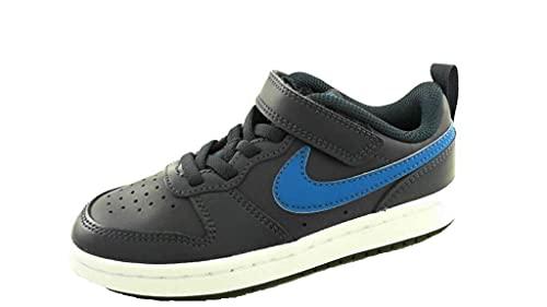 Nike Court Borough Low 2, Scarpe da Basket, Midnight Navy/Imperial Blue-Black, 33 EU