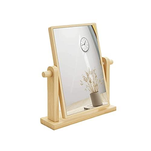 WGLL Espejo de Maquillaje de vanidad con Soporte, magnificación Espejo de Lupa Giratorio de 360 Grados de 360 Grados, Escritorio de Mesa portátil