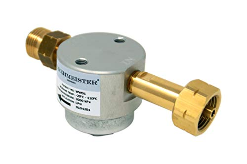 Drehmeister Gasfilter Smart Filter für Gasflaschen W21,8 x 1/14 LH (Lange Version) - Flaschenfilter (LPG, CNG, Propan, Butan) für Caravan, Camper, Wohnwagen, Grill, Gasküche oder Gabelstapler