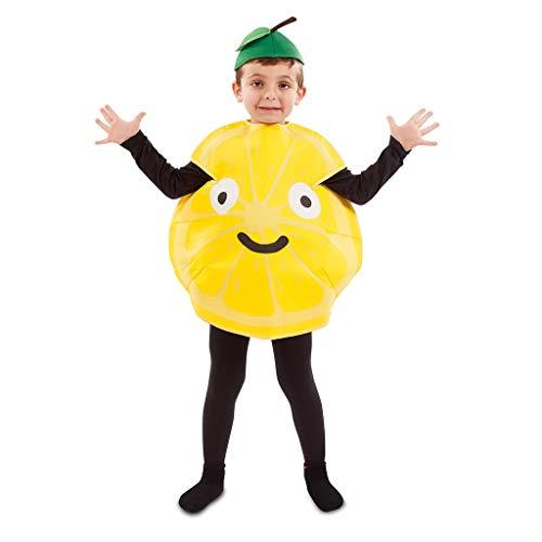 EUROCARNAVALES Kinder Kostüm Früchtchen 3-4 Jahre Frucht-Verkleidung Obst (Zitrone)