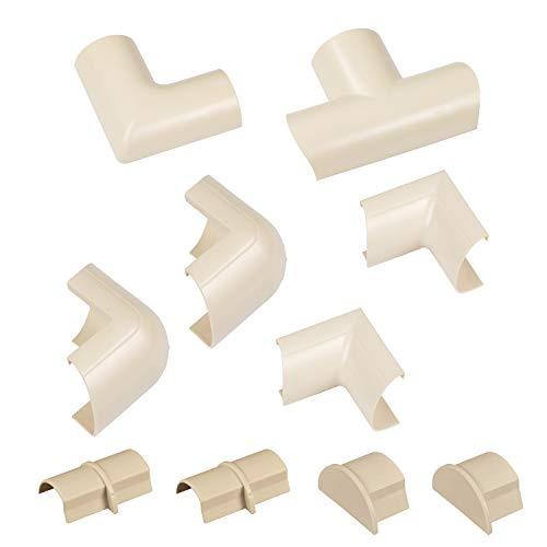 D-Line CLOAP3015M Mini Kabelkanal Clip-Over Verbindungsstücke Multipack, Magnolie, 10 Stück