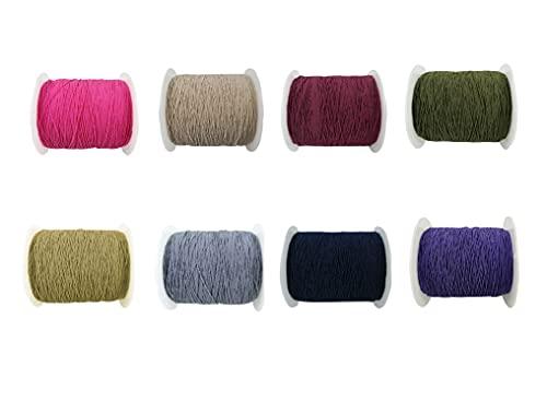 ETXP Suave, Duradero, Hilo Elástico 0.3mm 40 Colores 220 Yardas para Coser, Overlock, Beading, Collar Pulsera Joyería para Manualidades de Bricolaje Punto de Cruz (Color : 8 PCS Dark Colors)