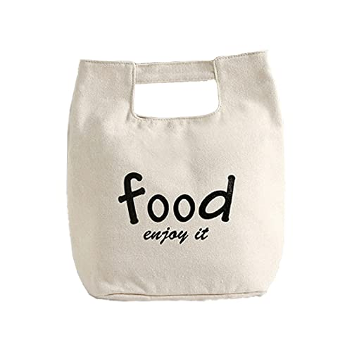 HANMOU Portable Insulated Lunch Bag Men's Lunch Bag Suitable for Beach School Office Picnic White 24 X 27 X 21 cm