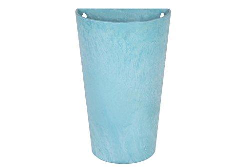 Artstone Vaso da fiori Oggetto da parete Claire, resistente al gelo e leggero, Acqua, 30x18x49cm