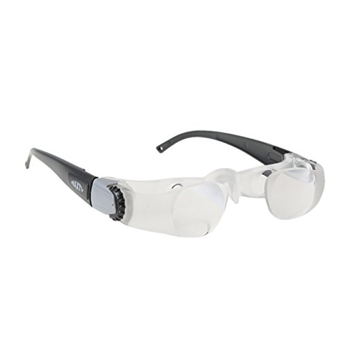 Dovewill 2.1X Max TV Headband Adjustable Spectacles Portable Lens Magnifying Binocular Glasses for Watching TV Eye Magnifier