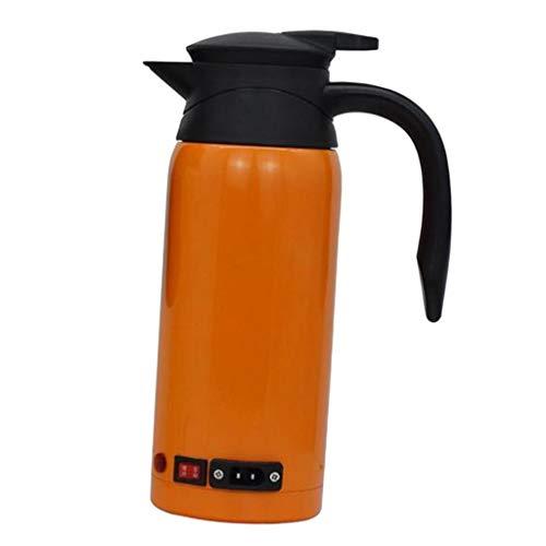 FLAMEER Hervidor de Agua Electrico Taza de vacio de multifuncional para Simple de Limpiado y Uso - naranja