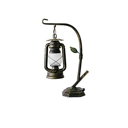 LOVE-HOME creativiteit tafellamp vintage lantaarn oude petroleumlamp slaapkamer bedlampje E27 [energieklasse A]