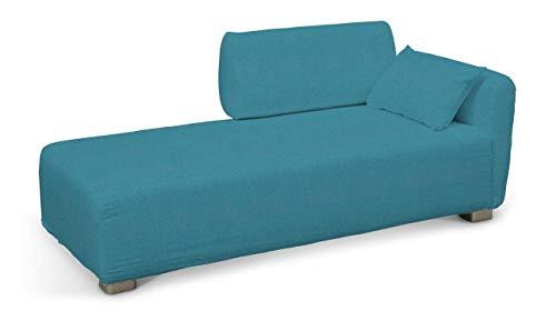 Dekoria Mysinge Recamiere Sofabezug Husse passend für IKEA Modell Mysinge türkis