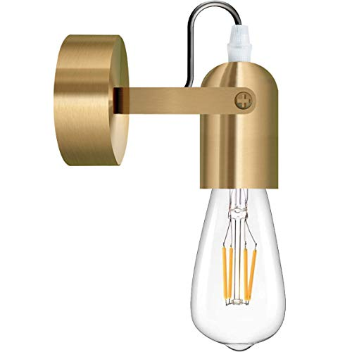 FLYFLY Vintage Lampade da parete, E27 Portalampada Regolabile Industriale/Moderno Applique da parete interno per Casa, Camera da Letto, Cucina, Bar, Caffè, Ristorante(lampadina non inclusa)