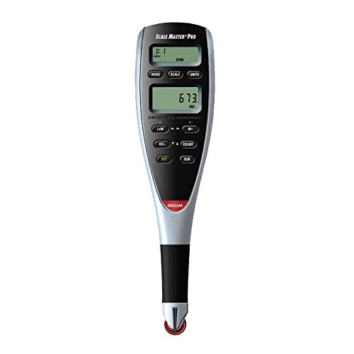 Calculated Industries 6025 Scale Master Pro Digital Plan Measure Take-off Tool | 72 Built-in US Imperial, Metric Scales | 6 Custom Scales for Out-of-Scale Plans | Dedicated Keys for Linear Measuring
