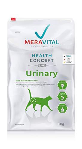 MERAVITAL Urinary Katzenfutter trocken 3 kg für Katzen zur Förderung der Wasseraufnahme und Spülung bei Harnwegserkrankungen