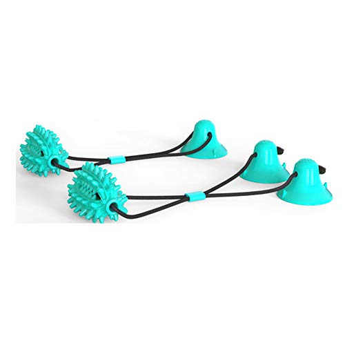 Pet Dog Toys Silicon Suction Cup Tug Dog Toy Dogs Push Ball Toy Pet Tooth Cleaning Dog Toothbrush for Puppy Large Dog Biting Toy Dog Molar Stick Toothbrush (Cactus with Rope)