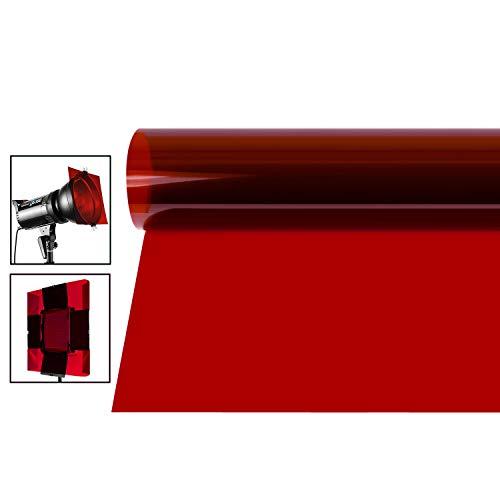 Neewer 16x20 Zoll Gel-Farbfilter, farbige Überlagerungen, transparente Farbfolie, Korrektur-Gel-Lichtfilter für Fotostudio-Blitz, LED-Videoleuchte, DJ-Licht usw. (rot)