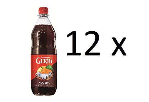Gerry Cola Mix 12 x 1000ml Orangenlimonade + Cola Limonade in Pet Flaschen inclusive MEHRWEG Pfand
