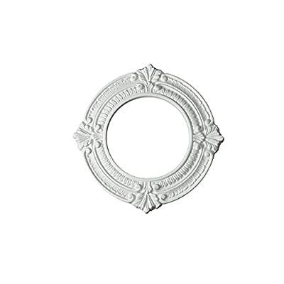 "White Ceiling Medallion Urethane Recessed Trim Rosette 6"" ID X 10"" OD   Renovator's Supply"